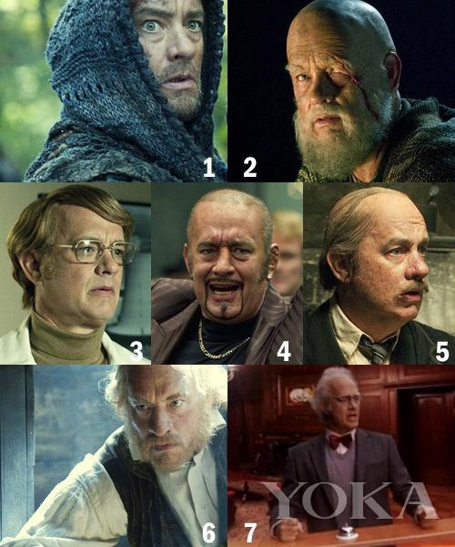 汤姆・汉克斯6个角色7个造型