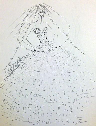 张雨绮婚纱手稿