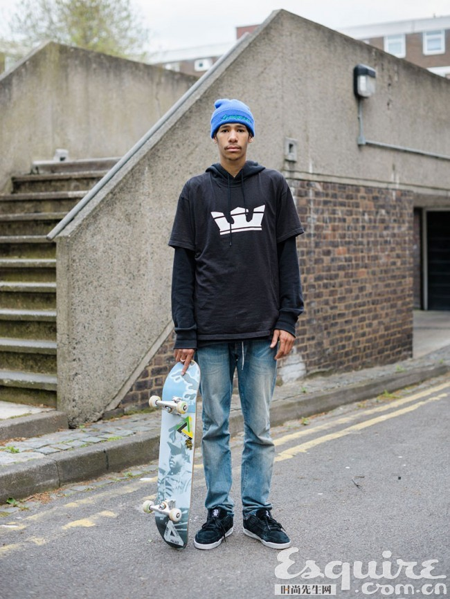 街头的不羁时髦 滑板少年专属街拍 搭配