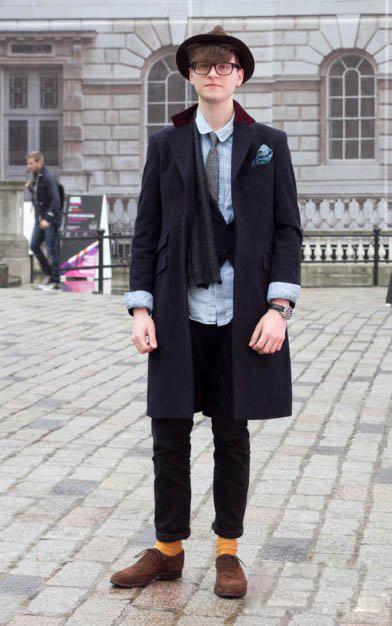 纽约街头冬季潮男美式简约搭配