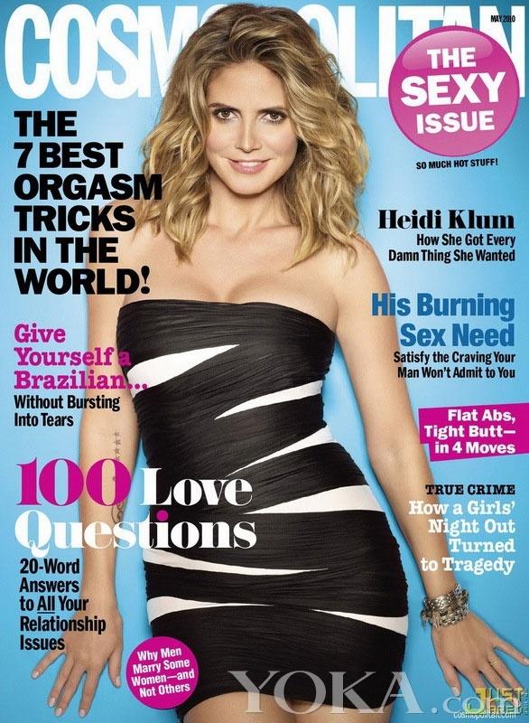又到了时尚杂志公布5月刊封面的时候,女星杰西卡-辛普森,珍妮弗-洛佩兹,海蒂-克鲁姆以及夏内-格莱姆斯分别占据了《Marie Claire》、《Redbook》、《Cosmopolitan》和《Dirrty Glam》这基本杂志的封面。其中杰西卡-辛普森还拍摄了一组素颜写真照,并号召女性勇于做回真实的自己。